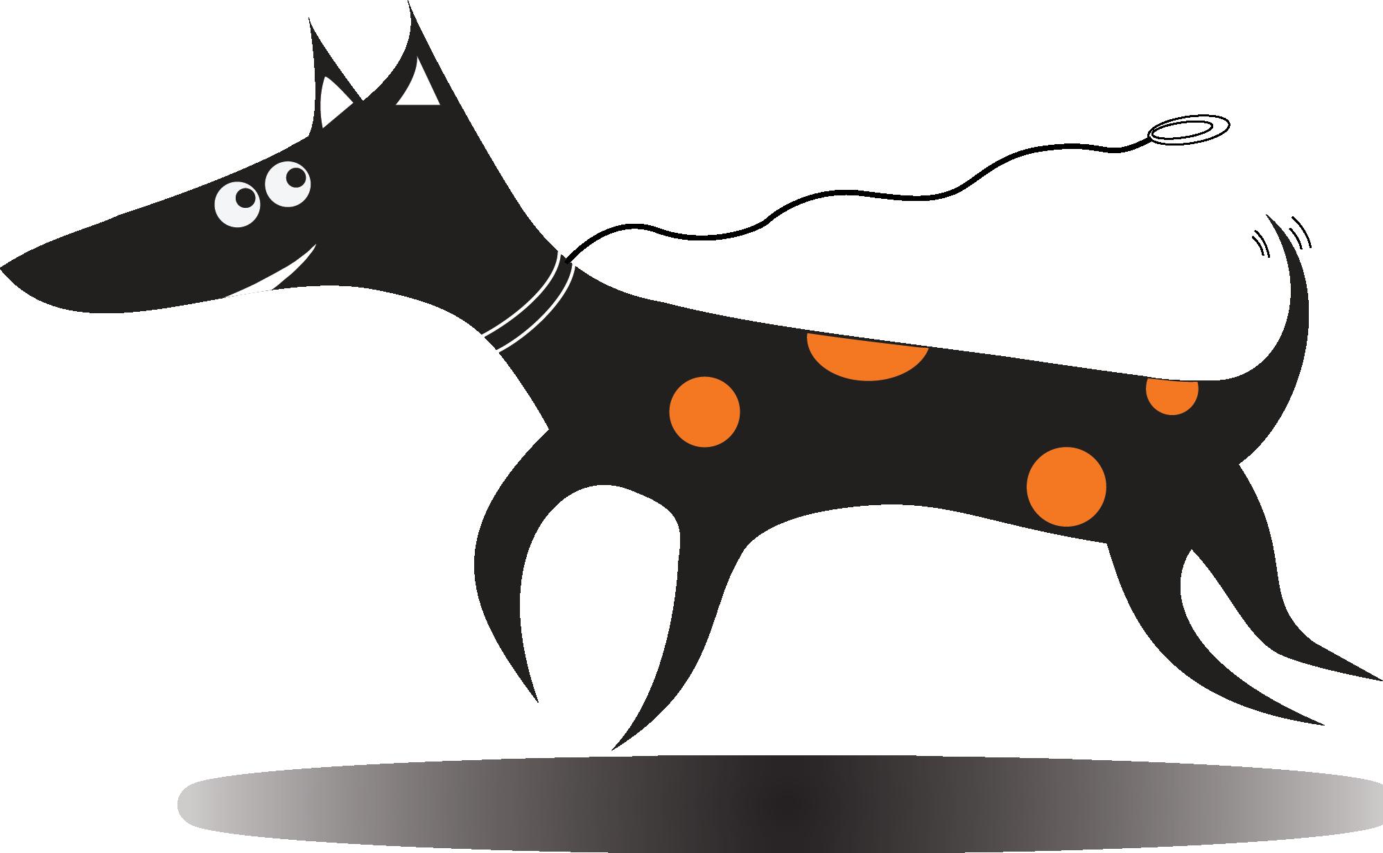 Digital Design Dog logo rude dog digital design