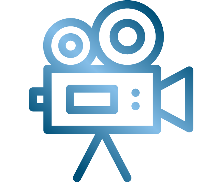 This is a logo of a video camera