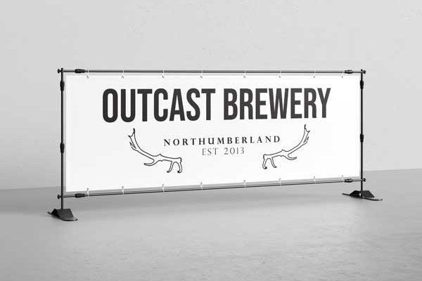 outcast brewery logo design rude dog digital